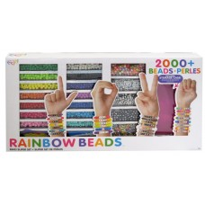Rainbow Beads Super Set - Make 50+ Bracelets - Storage Case Included!