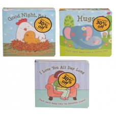 Good Night, Baby / Hugs / I love you All day Long - Asst Infant Book