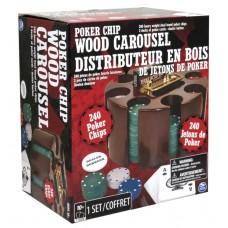 Poker Chip Wood Carousel