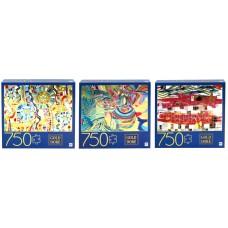 Gold Foil Puzzle 750pc Asst