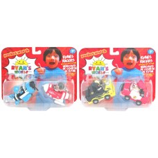 Ryan's World Racers with Pull Back Vehicle 2pk