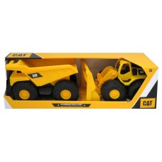 CAT Construction Fleet 2 pk Dump Truck and Wheel Loader
