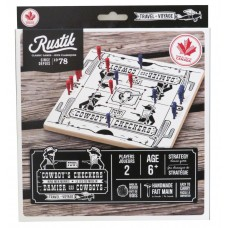 RUSTIK - COWBOY'S CHECKERS TRAVEL GAME