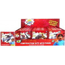 Ryan's World Construction Set with Figure w/ 40pcs - 2 Displays of 12 units