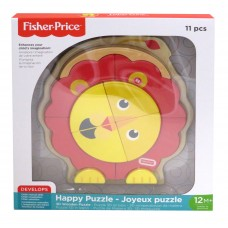 FISHER PRICE HAPPY-PUZZLE! 3D WOODEN 11 PCS PUZZLE LION