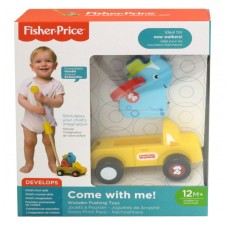 FISHER PRICE COME WITH ME! - WOODEN PUSHING TOY ELEPHANT