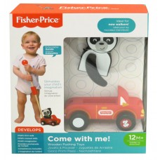 FISHER PRICE COME WITH ME! - WOODEN PUSHING TOY PANDA