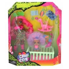 Cave Club Wild - Fernessa & Furrah Dolls Babysitting Playset