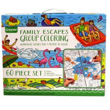 Crayola Adult Coloring - Family escapes