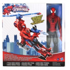 "Spider-Man 12"" Action Figure with Web Copter"