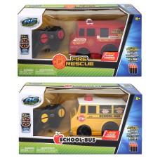 RC Radio Control Trucks 6'' Fire Rescue and School bus