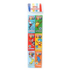 DR. SEUSS 6-PACK OF 4 CRAYONS