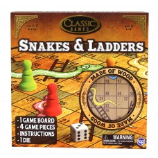 Snakes and Ladders Game - Made of Wood