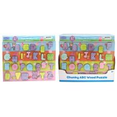 Peppa Pig ABC Wood Puzzle w/display