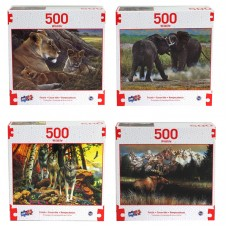 Puzzle, Wildlife 500 PC Asst