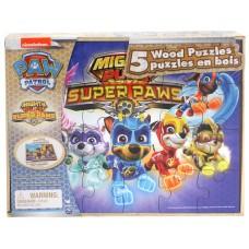 Paw Patrol Wood Puzzles 5-pack