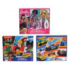 Licensed Kids Puzzle 3-pack Asst