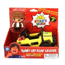 Ryan's World Off Road Cruiser - Figure and Vehicle with Pull Back Action!