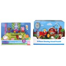 Chunky Wood Puzzles Asst w/display