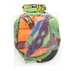 Ninja Turtle Shell-Red Orange Purple Blue Head Masks-Body Costume. Fits Sizes 4-6.