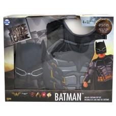 BATMAN DELUXE COSTUME, TOP, CAPE & MASK - Size 4-6