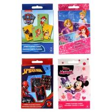 Licensed Jumbo Card Asst Paw patrol, Princess, Minnie Mouse, Spiderman
