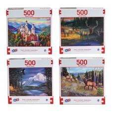Alpine Vistas - Deluxe Artistic 500 pcs Puzzle Collection