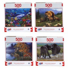 Puzzle, Wildlife 500 PC Asst