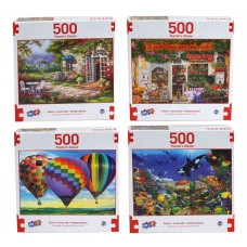Puzzlers Choice - Deluxe Artistic 500 pcs Puzzle Collection