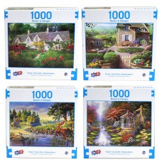 Country Manors & Cottages Asst Puzzle - 1000 pc