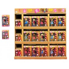 Boxy Girls Display (90 Dolls & 24 Accessory Packs per display) Priced per display