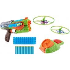 X-Shot New Flying Bug Attack Swarm Seeker Dart Blaster w/12 Darts (Mailer Box packaging)