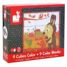 Janod Kubkid 9 Colors Blocks