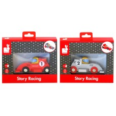 Janod Story Racing Formula 1 Wood Toy Asst