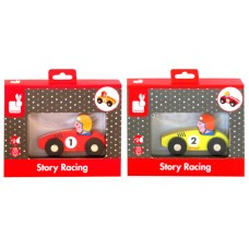 Janod Story Racing Wooden Car Asst