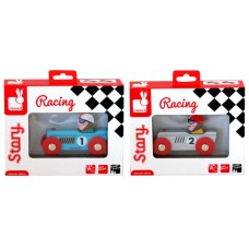 Janod Story Racing Retromotor Wood Toy Asst