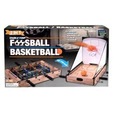 TABLETOP - 2 IN 1 FOOSBALL & BASKETBALL