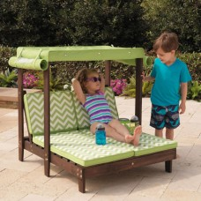 Fun In The Sun Double Chaise w/ Canopy -KD Box