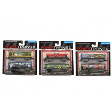 Power City Trains Cars 2-pack