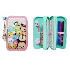 Tsum Tsum Pencil Case w/ 44 pcs