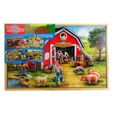 Puzbox Country Farm 4 Wooden Puzzle Asst. Set