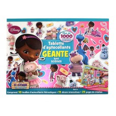 Doc McStuffins Tablette d'autocollants Geante -French