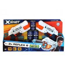 XShot Excel Double Reflex 6 Foam Dart Blaster Combo Pack (16 Darts 6 Cans)