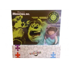 Monsters Inc. Glow In The Dark Puzzle w/ 24Pcs W/ Display