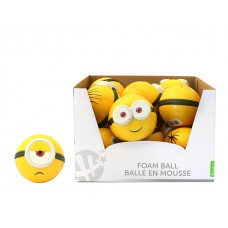"4"" Minions Sculpted HD Foam Ball Asst w/display"
