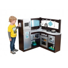 Corner Kitchen Toy, Espresso/Silver -KD Box