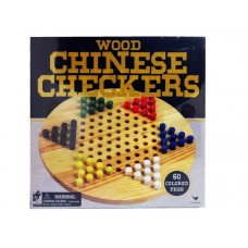 Wood Chinese Checkers W/ 60 Pegs - Bilingual