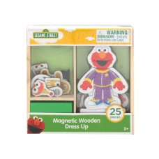 Sesame Street Magnetic Wooden Dress Up w/25 Pcs