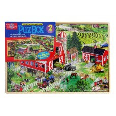 Puzbox Farmers and Tractors 2 Wooden Puzzle Asst. Set