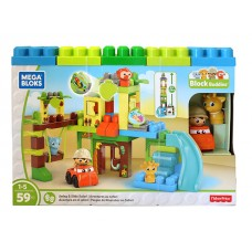 First Builders Swing and Slide Safari W/ 59 Pcs